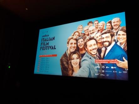 Lavazza Italian Film Festival. Copyright Lloyd Marken.