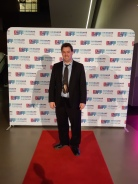 On the red carpet. Copyright Lloyd Marken