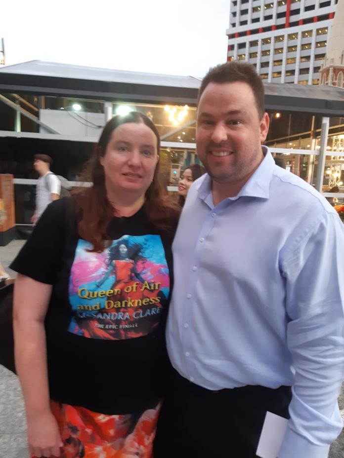 With Karen before we went in. Copyright Lloyd Marken.
