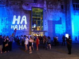 Outside the Powerhouse on the last Saturday night of the Festival. Copyright Lloyd Marken