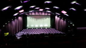 The Purple Cinema at New Farm Cinemas the night I went to them for the first time to see Valerian 08AUG2017. Copyright Lloyd Marken.
