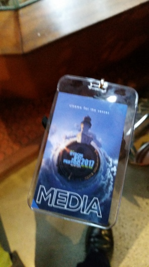 Pretty neat having my own Media pass at Byron Bay Film Festival 2017. Copyright Lloyd Marken.