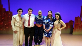 With the cast of Aladdin. Copyright Lloyd Marken.