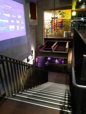 Stairs leading down to Visy Theatre, Turbine Studio and Mary Mae's Bar. Copyright Lloyd Marken.