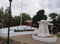 FIrst time we went to theatre, we found a park nearby where a public library and the Beenleigh war memorial is. I decided to pay my respects upon our return.. Copyright Lloyd Marken.
