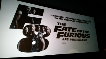 The Fate of the Furious at Chermside in early 2017. My assigned film review for Scenestr or any publication. Copyright Lloyd Marken.