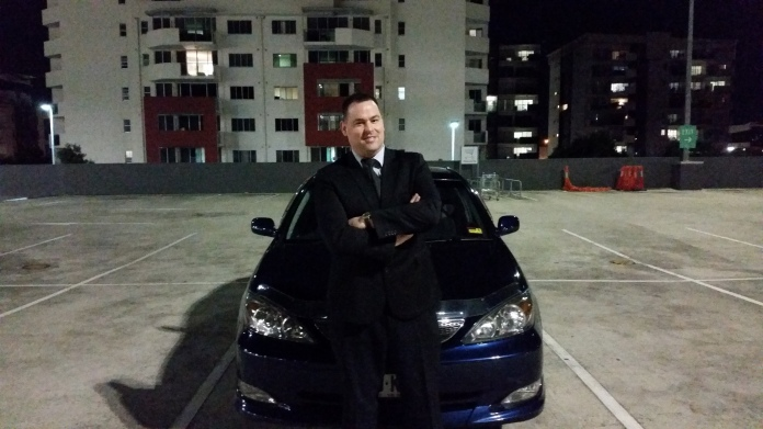Trying my best to channel the look of the Fast and Furious crew with my humble Toyota Camry. Copyright Lloyd Marken.