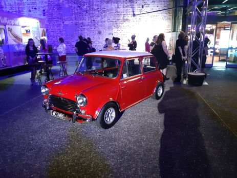 MINI Coopers outside the Powerhouse on Friday night. Copyright Lloyd Marken.