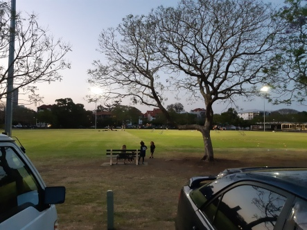 Parked at New Farm Park during twilight. Copyright Lloyd Marken.