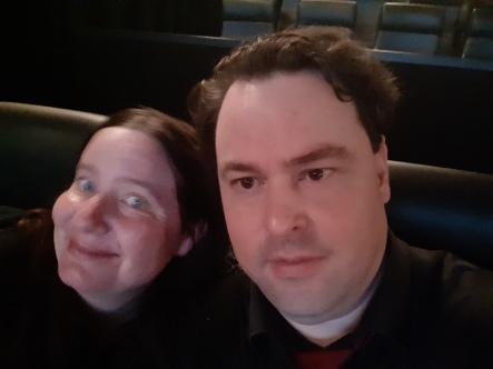 Traditional selfie before the film starts. Copyright Lloyd Marken.