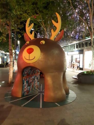 Christmas in the Queen Street Mall. Copyright Lloyd Marken.