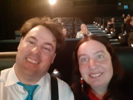 Karen and I ready for the film to begin. Copyright Lloyd Marken.