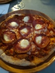 My pepperoni pizza. A friend enjoyed a Italian sausage one. Copyright Lloyd Marken.