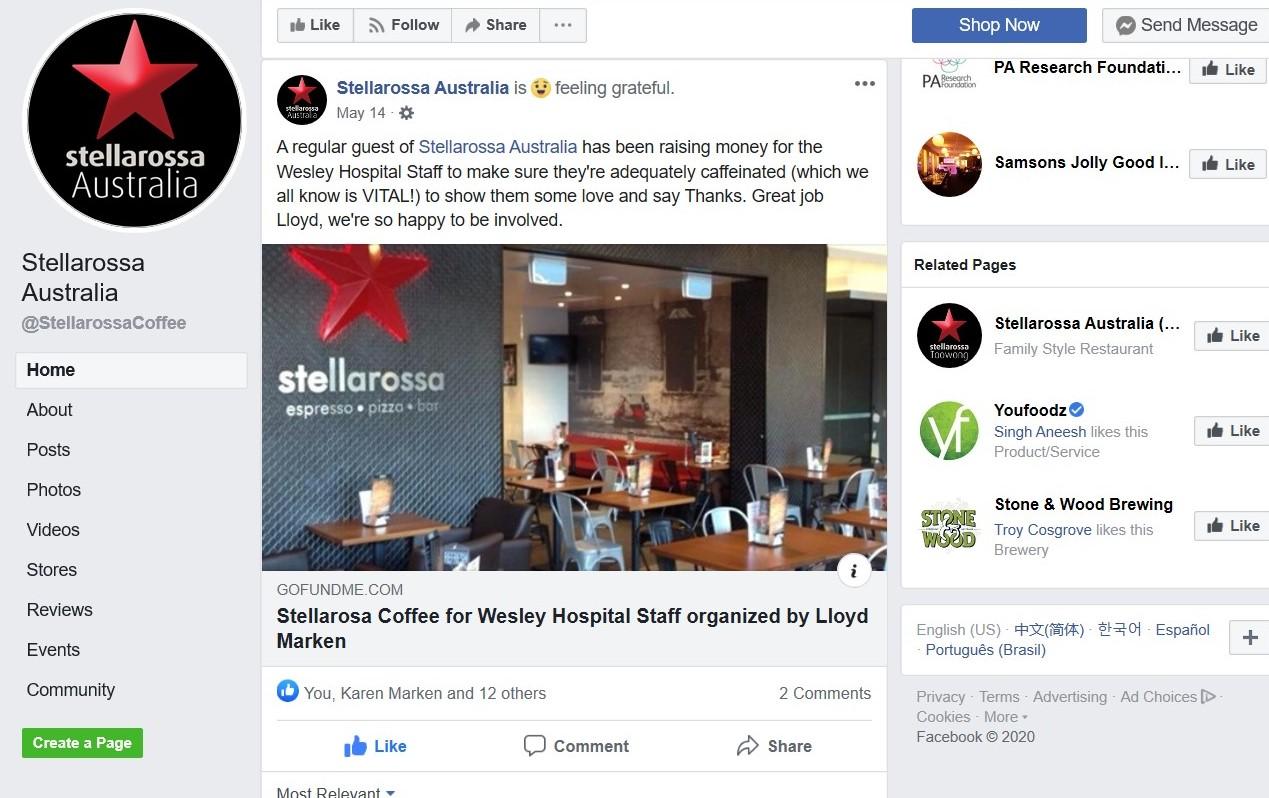 Stellarossa Facebook