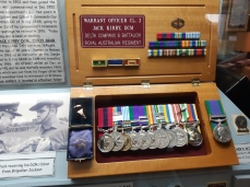 Medals of the highly regarded Warrant Officer Jack Kirby DCM. Copyright Lloyd Marken.