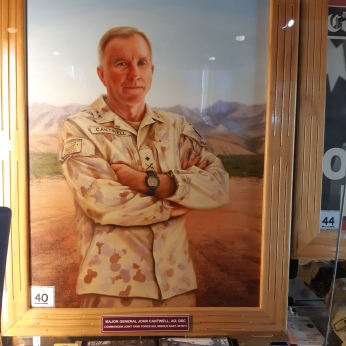 Portrait of Major General John Cantwell AO DSC. Copyright Lloyd Marken.