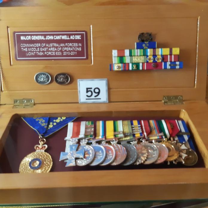 John Cantwell's medals. Copyright Lloyd Marken.