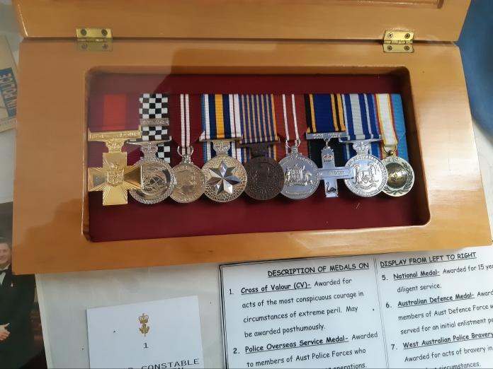 Timothy Britten's Medals. Copyright Lloyd Marken.