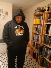 The new hoodie. Copyright Lloyd Marken.