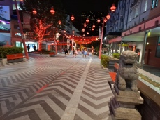 This is the Chinatown Mall later in the evening after all the restaurants are shutting down so it is emptier than the Valley was. Metres away the nightclubs with queues outside and young drunks wandering around happy and loud. Copyright Lloyd Marken