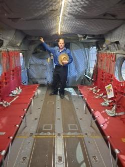 Me in cargo/passenger compartment. Copyright Lloyd Marken.