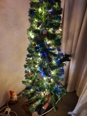 Our tree after we lit it up in 2020. We had a few new decorations from family.Copyright Lloyd Marken.