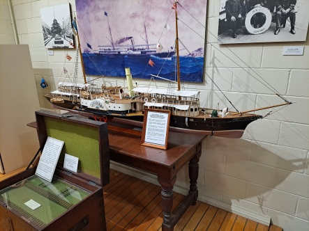 Scale model of QGSY Lucinda. Copyright Lloyd Marken.