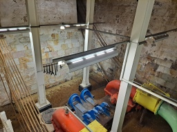 The underground pumps of the dry dock. Copyright Lloyd Marken.