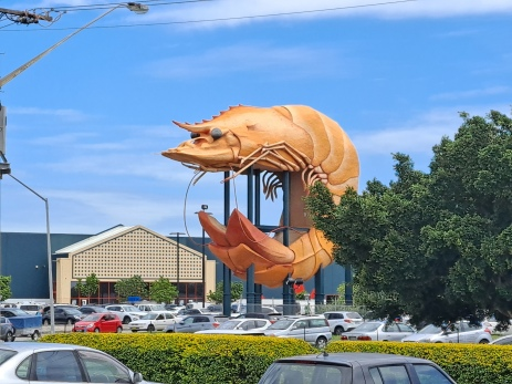 The Big Prawn at Ballina. Copyright Lloyd Marken.