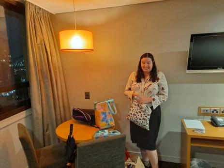 Karen in our room. Copyright Lloyd Marken.