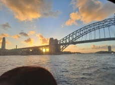 Sydney Harbour at sunset. Copyright Lloyd Marken.
