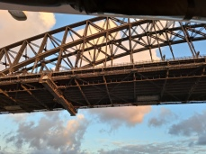 Passing under Sydney Harbour Bridge. Copyright Lloyd Marken.