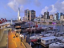 The Australian Maritime Museum with the new Crown Casino in the background that was in the news that week and improved the skyline according to our generous fellow passengers. Copyright Lloyd Marken.